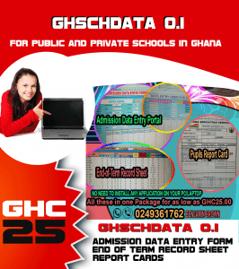 Admission and School Report System (GhSchData_0.1)