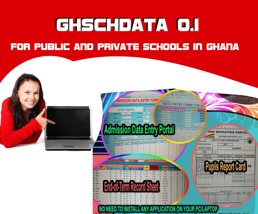 Admission and School Report System (GhSchData_0.1) database system