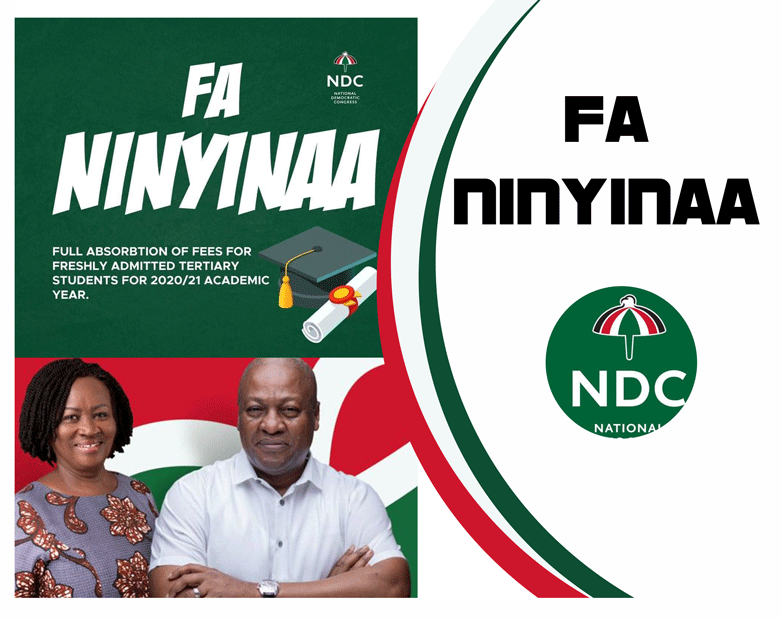 FaNinyinaa policy- NDC to absorb 100% fees of fresh tertiary students for 2020/2021