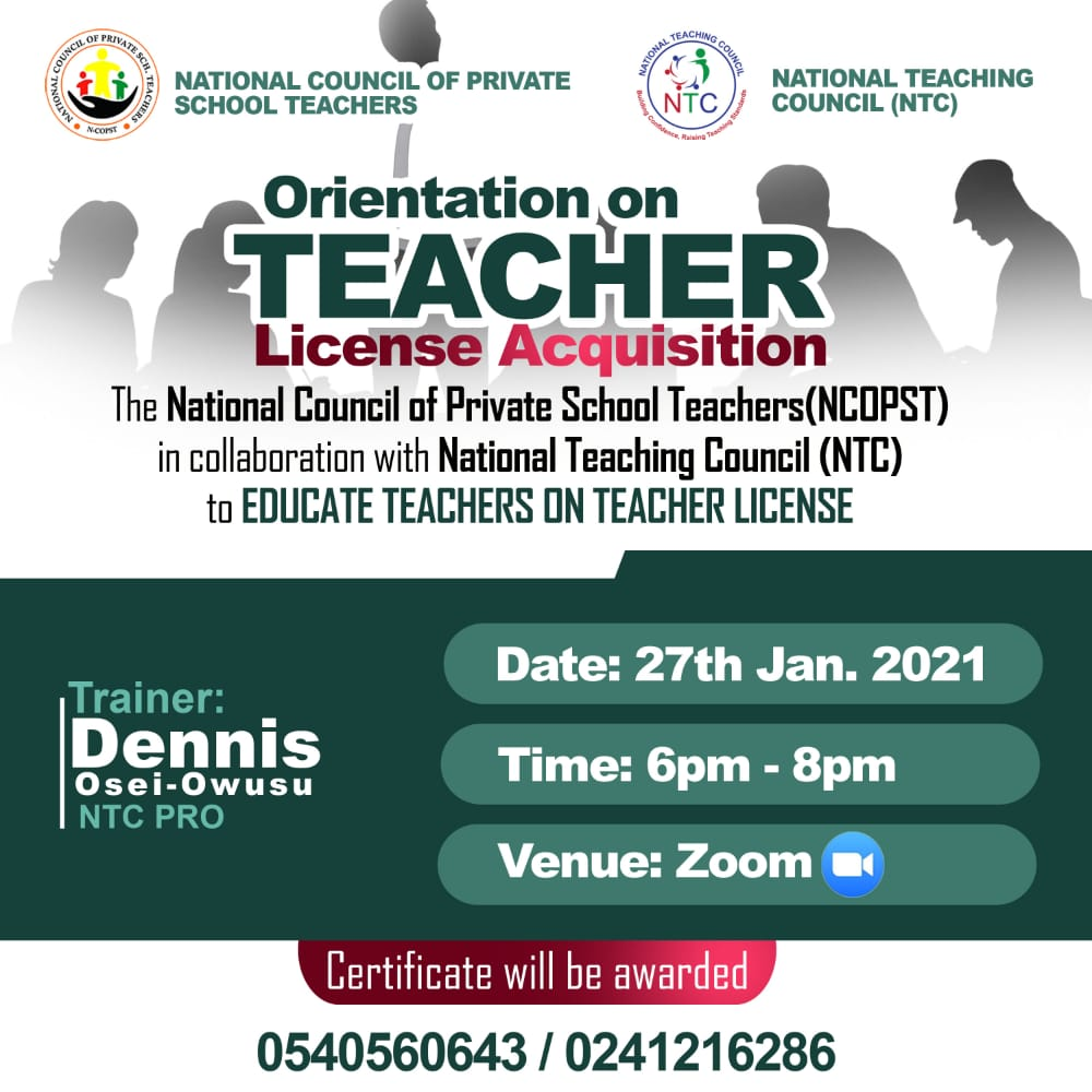 Teacher License Orientation