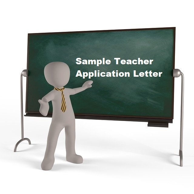 Sample Teacher Application Letter for Employment