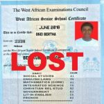 retrieve lost WASSCE Certificate