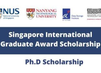Fully Funded Singapore Scholarship 2021 - International Graduate Award