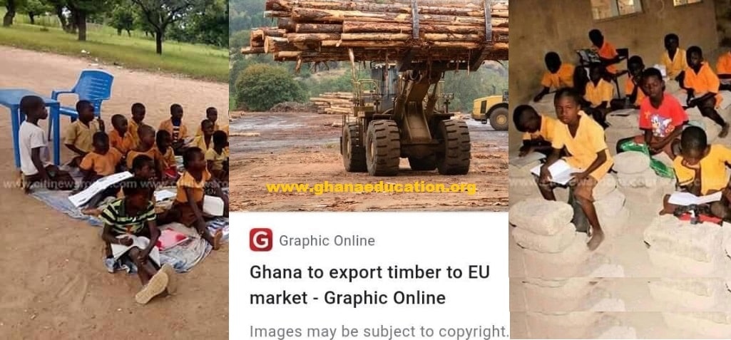 Ghana, the Timber Rich Country Where Future Leaders Sit on Sticks and Blocks to Learn