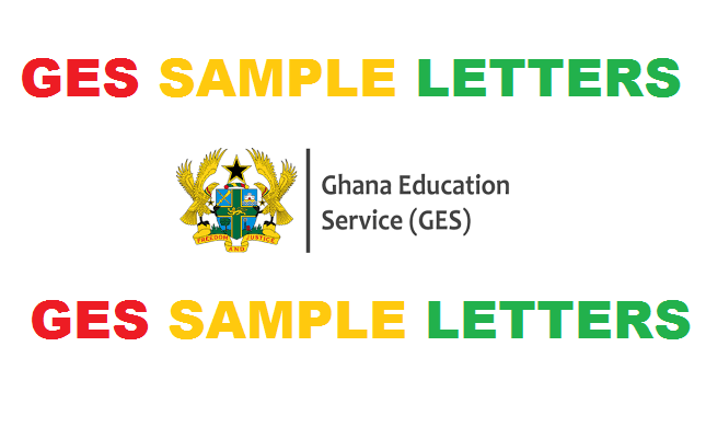 GES SAMPLE LETTERS
