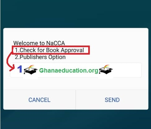 short code to check NaCCA approved textbooks