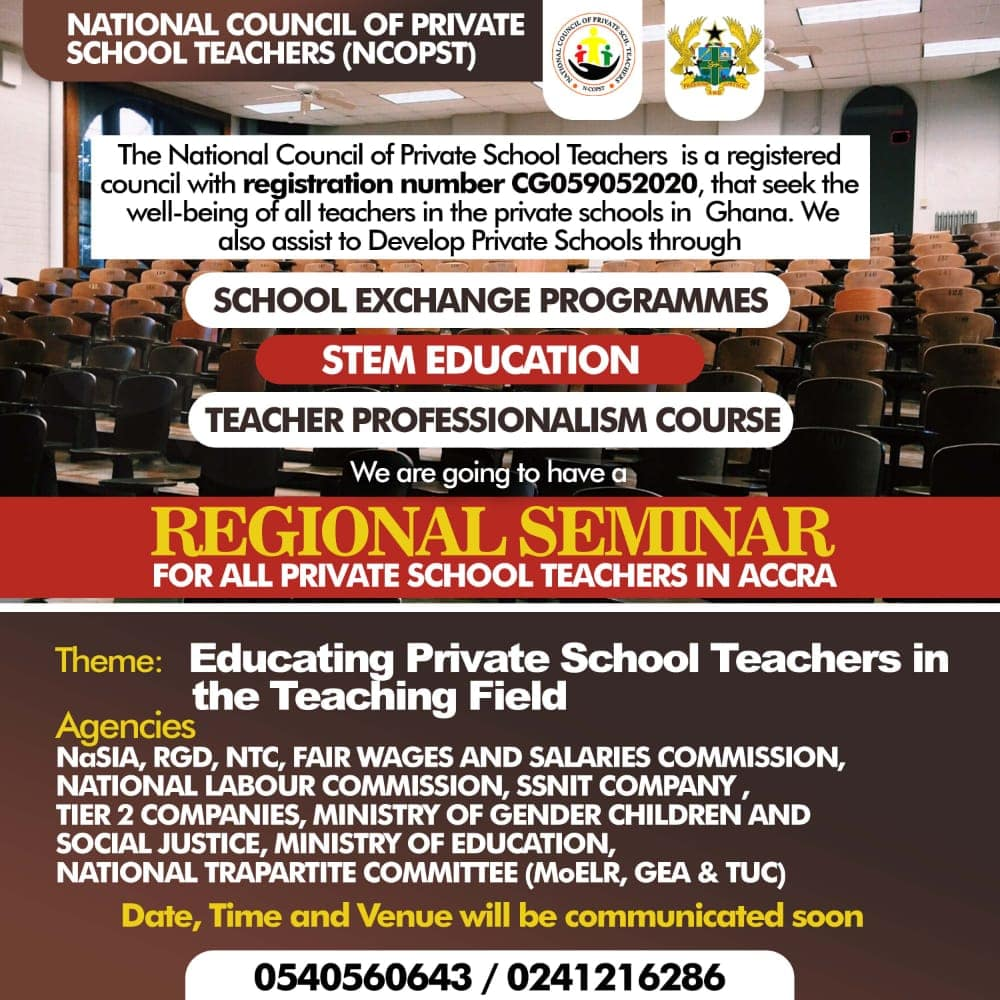 Education for private schools & teachers by NaSIA, NTC, National Trapartite Committee