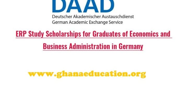 Fully Funded ERP Study Scholarships for 1st degree holders in Economics and Business Administration in Germany