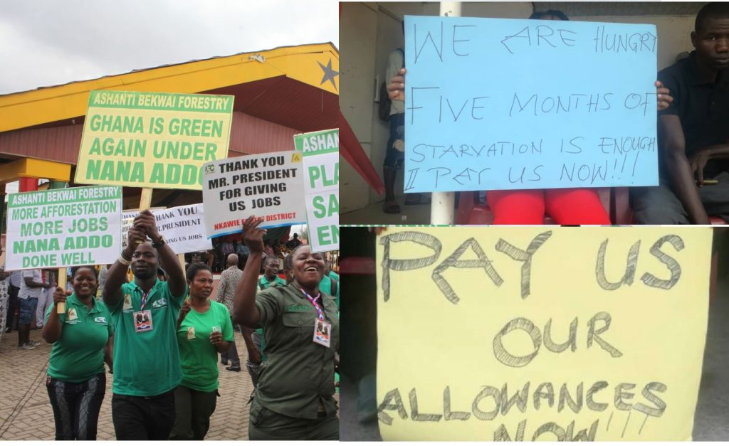 Youth in Afforestation Demo on Friday over 5 months unpaid allowances