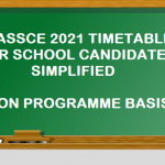 WASSCE 2021 Timetable on programme Basis