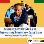 Answering Summary Questions