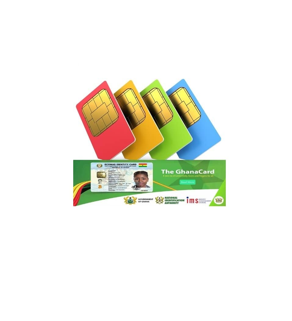 Easy steps to register your SIM card with Ghana Card