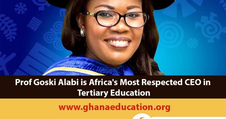 Prof Goski Alabi is Africa's Most Respected CEO in Tertiary Education