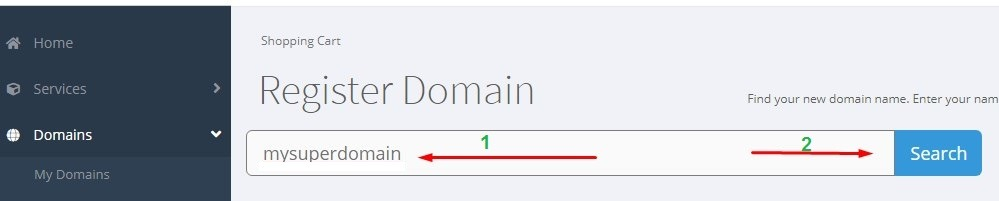 search new domain